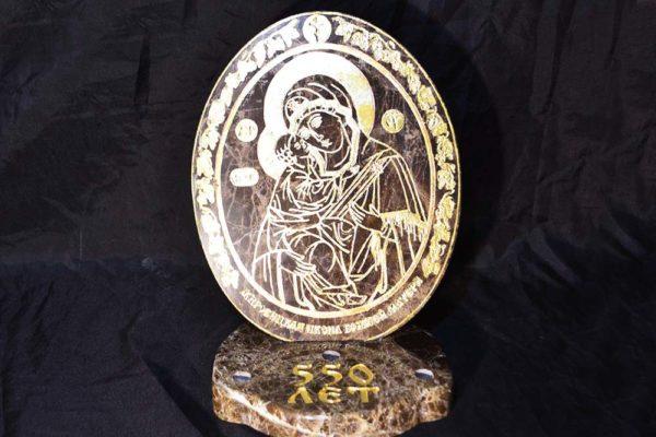 Икона Жировицкой (Жировичской) Божией Матери № 001 из мрамора, камня, изображение, фото 3