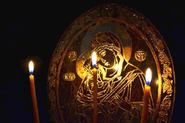 Икона Жировицкой (Жировичской) Божией Матери № 001 из мрамора, камня, изображение, фото 2
