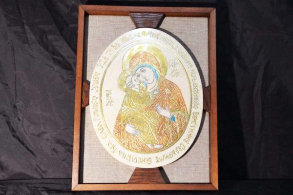 Икона Жировицкой (Жировичской) Божией Матери № 01 из мрамора, камня, изображение, фото 3