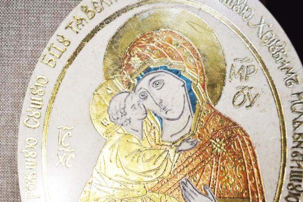 Икона Жировицкой (Жировичской) Божией Матери № 01 из мрамора, камня, изображение, фото 2