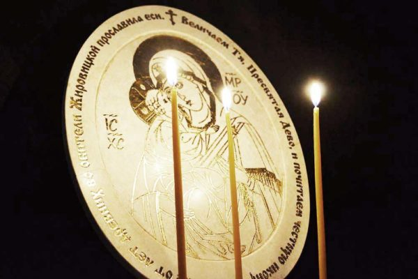 Икона Жировицкой (Жировичской) Божией Матери № 02 из мрамора, камня, изображение, фото 4