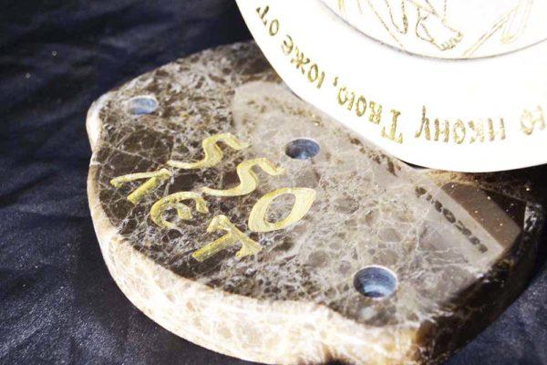 Икона Жировицкой (Жировичской) Божией Матери № 02 из мрамора, камня, изображение, фото 2