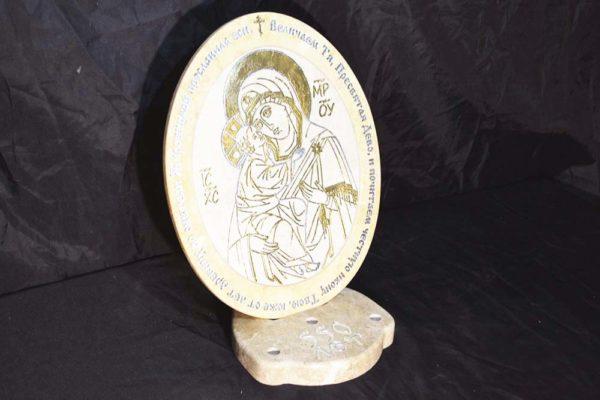 Икона Жировицкой (Жировичской) Божией Матери № 03 из мрамора, камня, изображение, фото 3