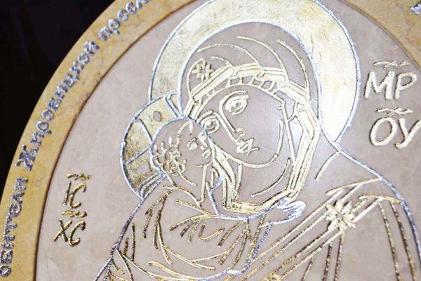 Икона Жировицкой (Жировичской) Божией Матери № 03 из мрамора, камня, изображение, фото 2