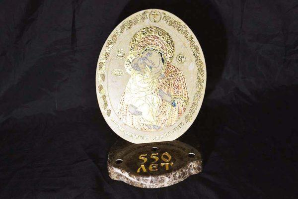 Икона Жировицкой (Жировичской) Божией Матери № 04 из мрамора, камня, изображение, фото 5