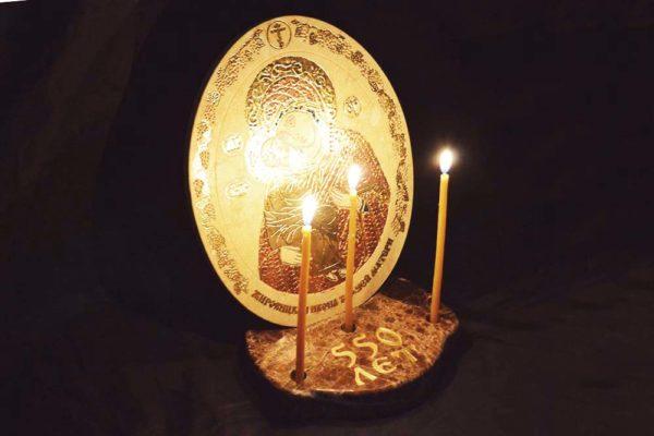 Икона Жировицкой (Жировичской) Божией Матери № 04 из мрамора, камня, изображение, фото 4
