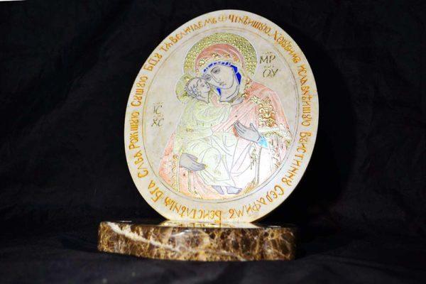 Икона Жировицкой (Жировичской) Божией Матери № 05 из мрамора, камня, изображение, фото 3