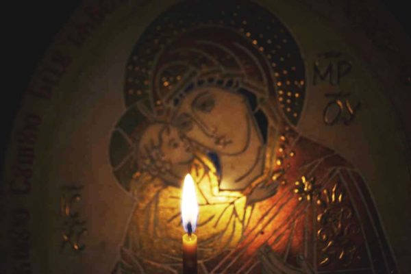 Икона Жировицкой (Жировичской) Божией Матери № 05 из мрамора, камня, изображение, фото 1