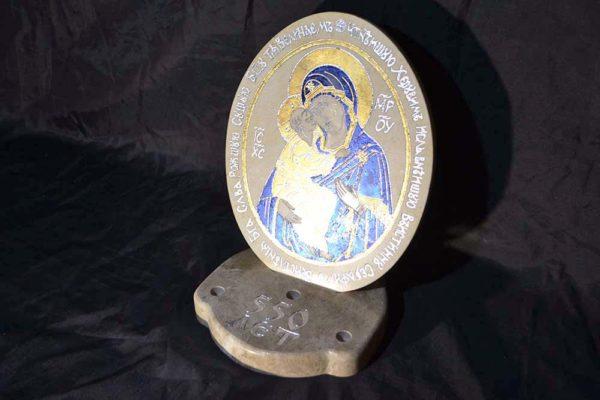 Икона Жировицкой (Жировичской) Божией Матери № 06 из мрамора, камня, изображение, фото 3