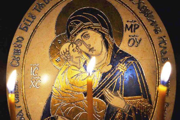 Икона Жировицкой (Жировичской) Божией Матери № 06 из мрамора, камня, изображение, фото 2