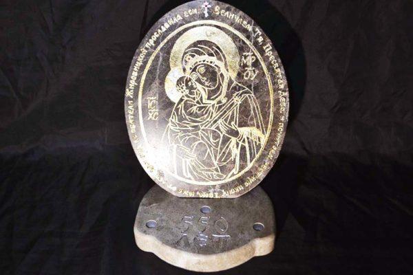 Икона Жировицкой (Жировичской) Божией Матери № 002 из мрамора, камня, изображение, фото 1