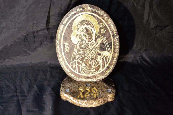Икона Жировицкой (Жировичской) Божией Матери № 003 из мрамора, камня, изображение, фото 2