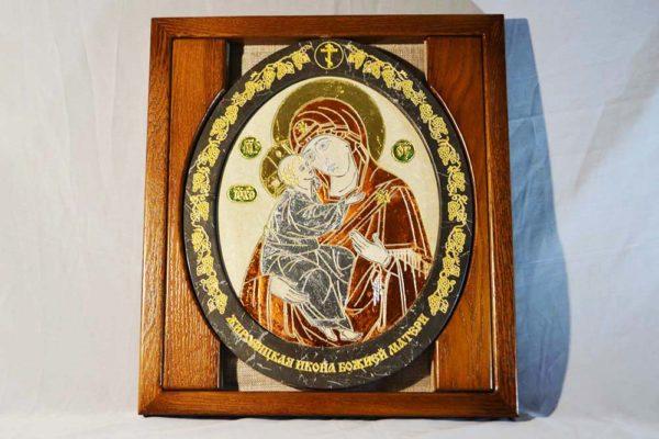 Икона Жировицкой (Жировичской) Божией Матери № 07 из мрамора, камня, изображение, фото 2