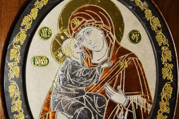 Икона Жировицкой (Жировичской) Божией Матери № 07 из мрамора, камня, изображение, фото 3
