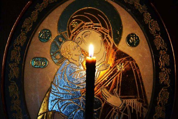 Икона Жировицкой (Жировичской) Божией Матери № 07 из мрамора, камня, изображение, фото 1