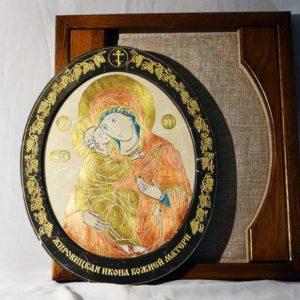 Икона Жировицкой (Жировичской) Божией Матери № 08 из мрамора, камня, изображение, фото 2