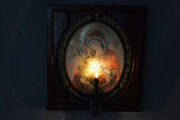 Икона Жировицкой (Жировичской) Божией Матери № 08 из мрамора, камня, изображение, фото 1