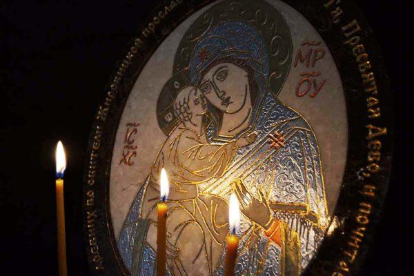 Икона Жировицкой (Жировичской) Божией Матери № 09 из мрамора, камня, изображение, фото 2