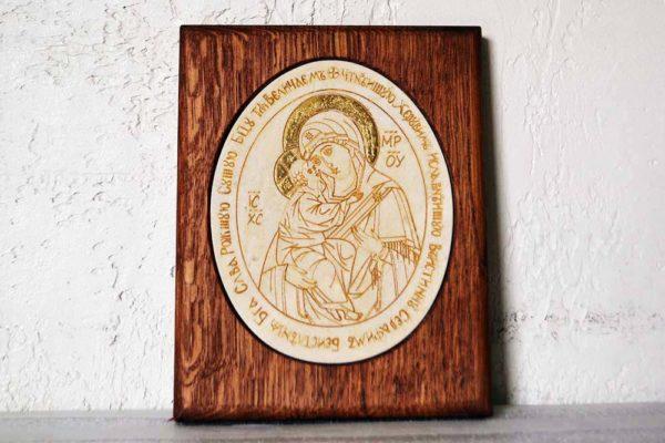 Икона Жировицкой (Жировичской) Божией Матери № 12 из мрамора, камня, изображение, фото 11