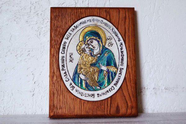 Икона Жировицкой (Жировичской) Божией Матери № 12 из мрамора, камня, изображение, фото 9