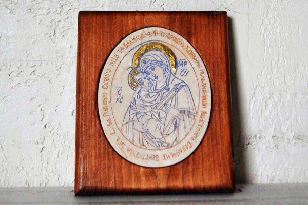 Икона Жировицкой (Жировичской) Божией Матери № 12 из мрамора, камня, изображение, фото 8