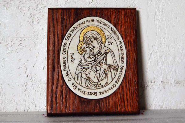 Икона Жировицкой (Жировичской) Божией Матери № 12 из мрамора, камня, изображение, фото 1