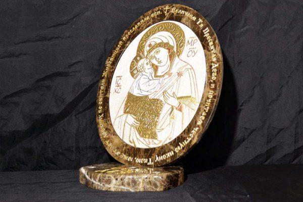 Икона Жировицкой (Жировичской) Божией Матери № 14 из мрамора, камня, изображение, фото 3