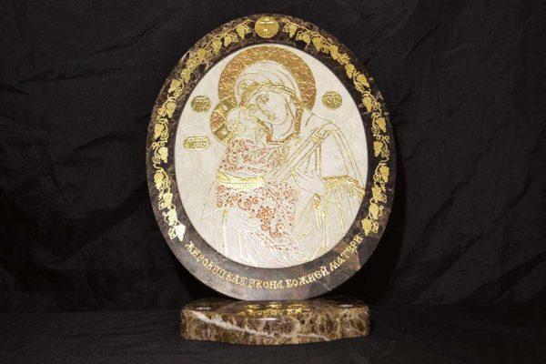 Икона Жировицкой (Жировичской) Божией Матери № 16 из мрамора, камня, изображение, фото 3