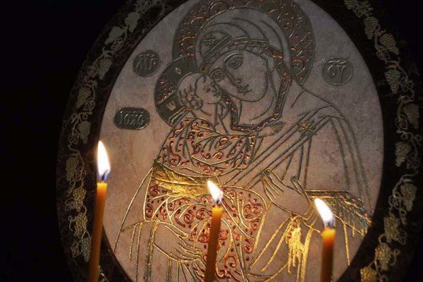 Икона Жировицкой (Жировичской) Божией Матери № 16 из мрамора, камня, изображение, фото 2