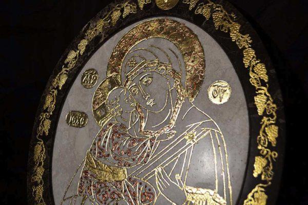 Икона Жировицкой (Жировичской) Божией Матери № 16 из мрамора, камня, изображение, фото 4
