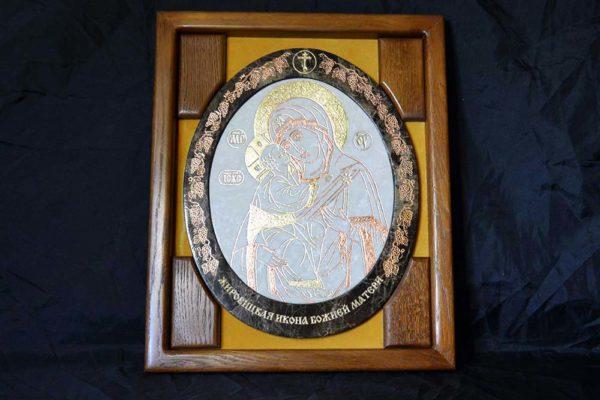 Икона Жировицкой (Жировичской) Божией Матери № 17 из мрамора, камня, изображение, фото 4