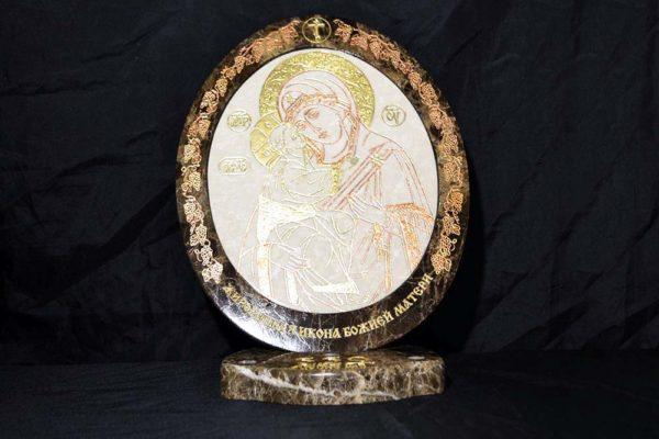 Икона Жировицкой (Жировичской) Божией Матери № 17 из мрамора, камня, изображение, фото 5