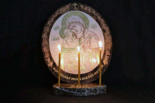 Икона Жировицкой (Жировичской) Божией Матери № 17 из мрамора, камня, изображение, фото 2