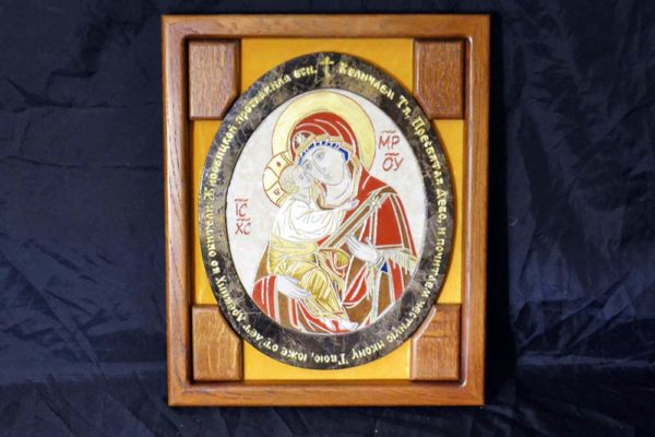 Икона Жировицкой (Жировичской) Божией Матери № 18 из мрамора, камня, изображение, фото 1