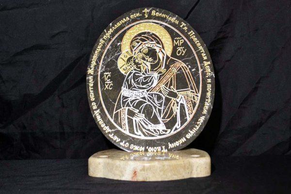 Икона Жировицкой (Жировичской) Божией Матери № 004 из мрамора, камня, изображение, фото 3