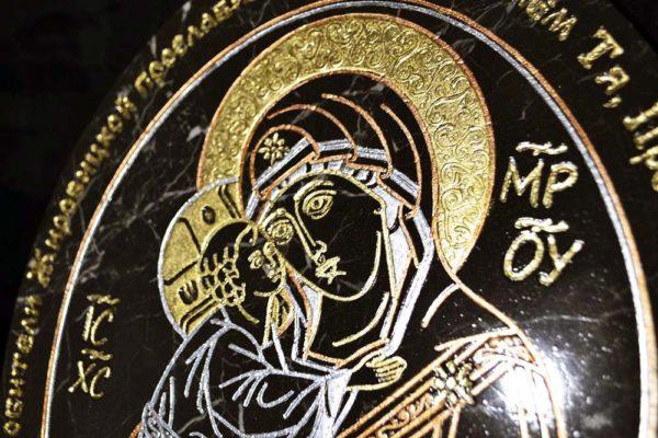 Икона Жировицкой (Жировичской) Божией Матери № 004 из мрамора, камня, изображение, фото 1