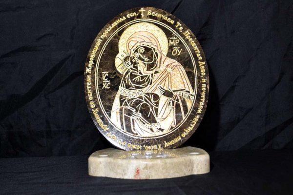 Икона Жировицкой (Жировичской) Божией Матери № 005 из мрамора, камня, изображение, фото 3
