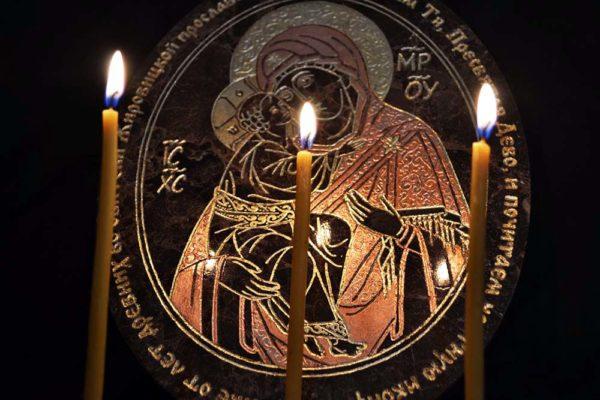 Икона Жировицкой (Жировичской) Божией Матери № 005 из мрамора, камня, изображение, фото 2