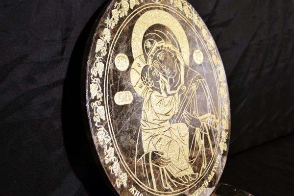 Икона Жировицкой (Жировичской) Божией Матери № 006 из мрамора, камня, изображение, фото 2