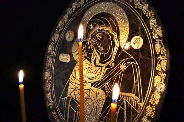 Икона Жировицкой (Жировичской) Божией Матери № 006 из мрамора, камня, изображение, фото 3