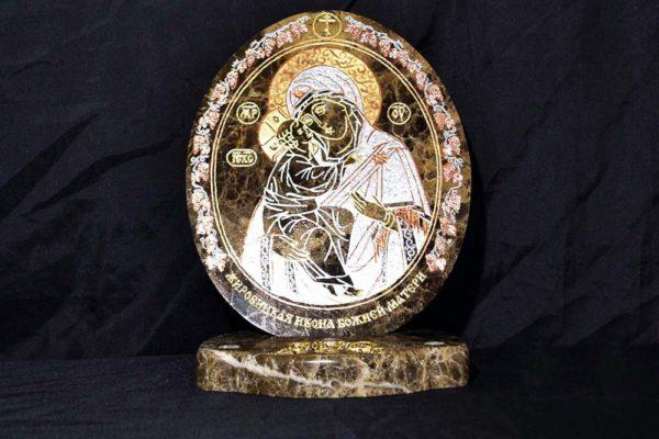 Икона Жировицкой (Жировичской) Божией Матери № 007 из мрамора, камня, изображение, фото 4