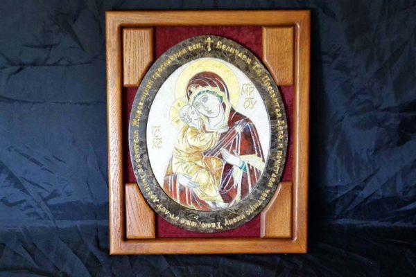 Икона Жировицкой (Жировичской) Божией Матери № 22 из мрамора, камня, изображение, фото 2