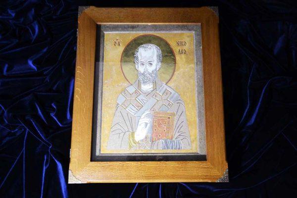 Икона Николая Чудотворца (Угодника) инд.№ 01 из мрамора, камня, изображение, фото 7