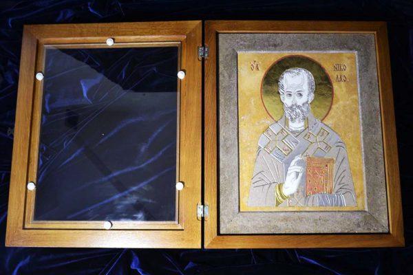Икона Николая Чудотворца (Угодника) инд.№ 01 из мрамора, камня, изображение, фото 4