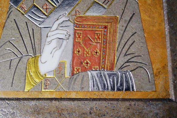 Икона Николая Чудотворца (Угодника) инд.№ 01 из мрамора, камня, изображение, фото 6