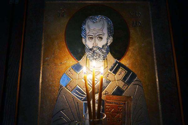 Икона Николая Чудотворца (Угодника) инд.№ 01 из мрамора, камня, изображение, фото 3