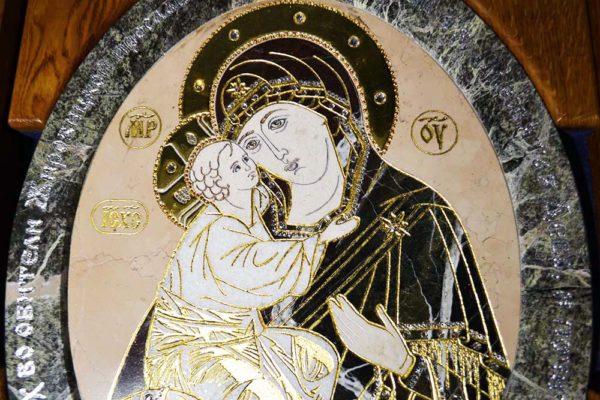 Икона Жировицкой Божией Матери № п-1 из мрамора, камня, изображение, фото 9