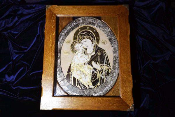 Икона Жировицкой Божией Матери № п-1 из мрамора, камня, изображение, фото 7