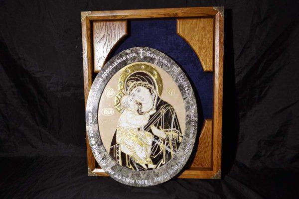Икона Жировицкой Божией Матери № п-1 из мрамора, камня, изображение, фото 2