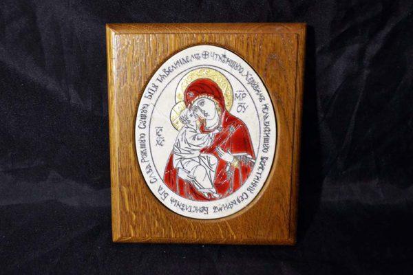 Икона Жировицкой (Жировичской) Божией Матери № 25 из мрамора, камня, изображение, фото 2